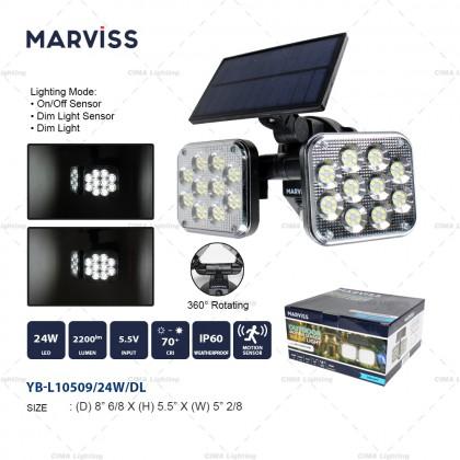 MARVISS YB-L10509 24W OUTDOOR MOTION SENSOR SOLAR LIGHT