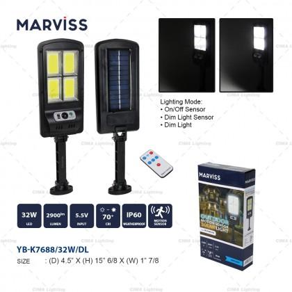 MARVISS YB-K7688 32W OUTDOOR MOTION SENSOR SOLAR LIGHT