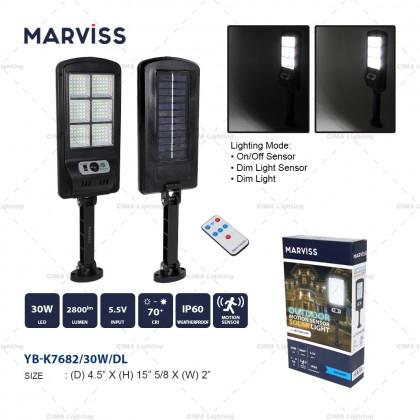 MARVISS YB-K7682 30W OUTDOOR MOTION SENSOR SOLAR LIGHT