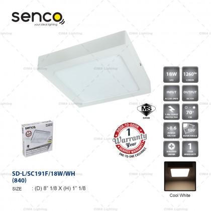 SENCO 12W/18W/24W LED SURFACE DOWNLIGHT ROUND/SQUARE [SIRIM CETIFICATED]